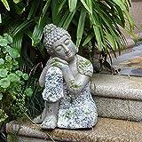 LIUSHI Patio Jardín Villa Casa de té Casa Zen Pueblo Sentado Buda Entrada...