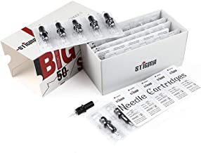 Stigma #12 Standard Disposable Tattoo Needle Cartridges Assorted Sizes of Round Shader/Weaved Magnum/Round Magnum Soft Edge for Tattoo Machines 50Pcs EN05-50KIT-D