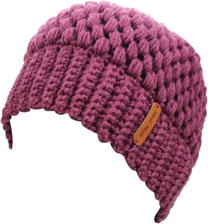 EYourlife2012 Womens Winter Cable Knit Messy High Ponytail Bun Runner Skull Beanie Hat Cap