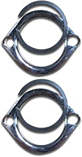 Ultima Exhaust Flange Kit with Retaining Rings for Evolution Big Twin 1984 & Later, and Evolution Sportster 1986 & Later, Also Will Fit Twin Cam Models 1999-Present, 66-290