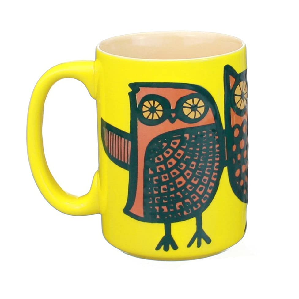 Kitsch'n Glam Owl Mug  (Yellow)