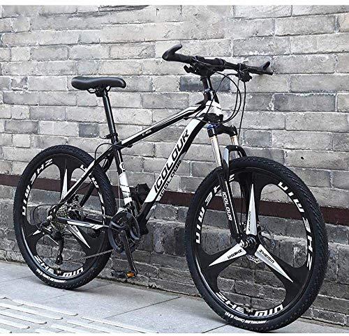24/27/30-velocidad de Bicicletas de montaña de Edad, Estructura de suspensión de Aluminio Ligero Completo, Suspensión Tenedor, Freno de Disco, 26 Pulgadas (Color : D2, Size : 27 Speed)
