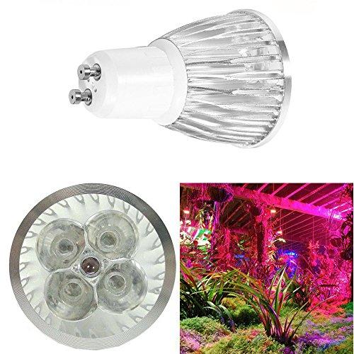 Pflanzen-LED Wachstumsleuchte GU10 5 W, 5 LEDs (3 blau und 2 rot) Wechselstrom 85 - 265 V, LED-Lampe, Sportlicht, Downlight Pflanzenlampe für Innen, Blumen, Pflanzen, Gemüse, Hydrokultur, Garten