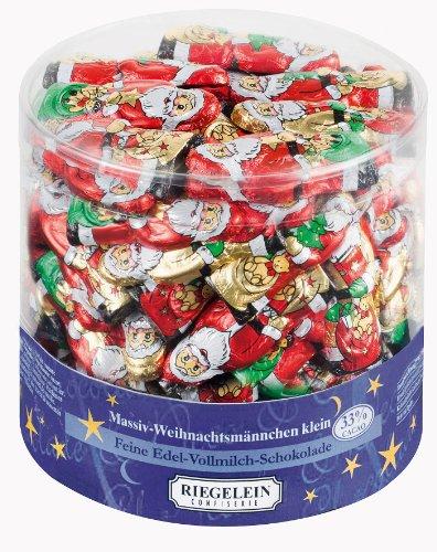 Riegelein massive Weihnachtsmännchen aus Edel-Vollmilch Schokolade (70 Stück Dose)