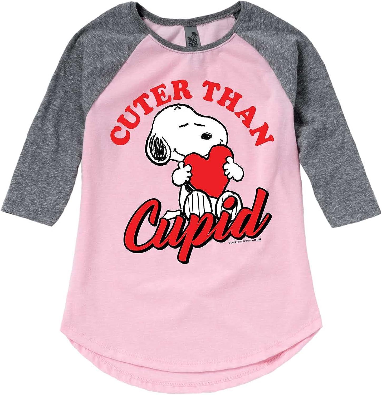 Peanuts - Cuter Than Cupid - Girls Toddler and Youth Raglan
