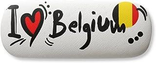 I Love Belgium Word Flag Love Heart Illustration Gl Case Eyegl Hard Shell Storage Spectacle Box