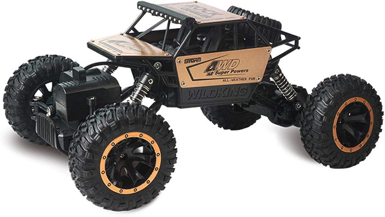 1 16 RC Cars - 4WD 2.4Ghz 4x4 Geländewagen Spielzeug Fernbedienung Elektro Monster Truck für Kinder und Erwachsene Spielzeug Hobby, Gold B07P9HZ5R9 Schön | Viele Sorten