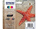 Epson Multipack 4 Colores 603 | Tinta Original | Cartuchos para Impresoras Expression Home XP-2100, XP-2105, XP-3100, XP-3105, XP-4100, XP-4105 y Workforce WF-2810, WF-2830, WF-2835, WF-2850