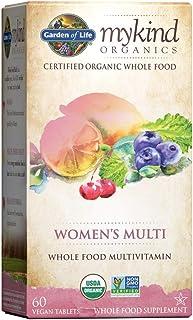 Organic Multivitamin for Women by Garden of Life, mykind Organics Womens Multi with Vitamin C, D, Folate, B6, B12, Biotin,...
