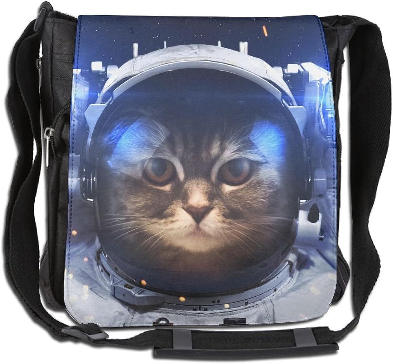 Space Cat Convenient Unisex Shoulder Handbag