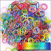 Kirinstores (キリンストア) ® 1800 本 クリップ 72 個 ゴムバンド レフィル Loom Rainbow Bracelets Dress Making (ルーム レインボー ブレスレット ドレス メーキング) - グレーブルー (45 Mixed A translucent)