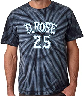 Prospect Shirts TIE-DYE Black Minnesota Rose D Rose Logo T-Shirt
