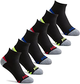 Prince Boys' Quarter Length Athletic Ankle Socks with Cushion for Active Kids