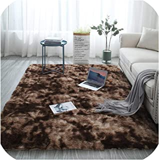 Mo Duo Gradient Color Living Room Carpet European Long Hair Fashion Bedroom mat Bay Window Bedside Blanket Washable Personality Rug,2,80x200cm