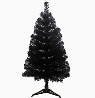 KUPARK 3ft Christmas Tree Artificial with Plastic Stand Home Office Christmas Holiday Decoration, Black