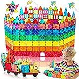 HOMOFY Oversize 3D Building Blocks Magnetic Tiles 100PCS STEM Educational Magnet Toy Set for Kids Inspiration Building Construction Learning Gifts for 3 4 5 6 Year Old Boys Girls