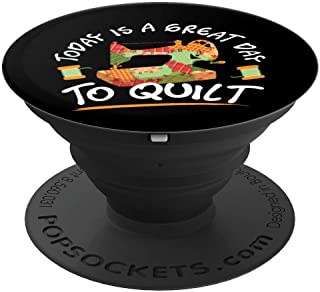 Quilting Quilt Sewing Machine Funny Sew Sewer Quilter Gifts PopSockets Grip and Stand for Phones and Tablets