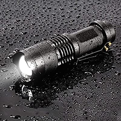 BESTSUN Tactical LED Flashlight 7w 300lm Mini Led Flashlight SK68 Small Pocket Torch Adjustable Focus Zoom Light Lamp