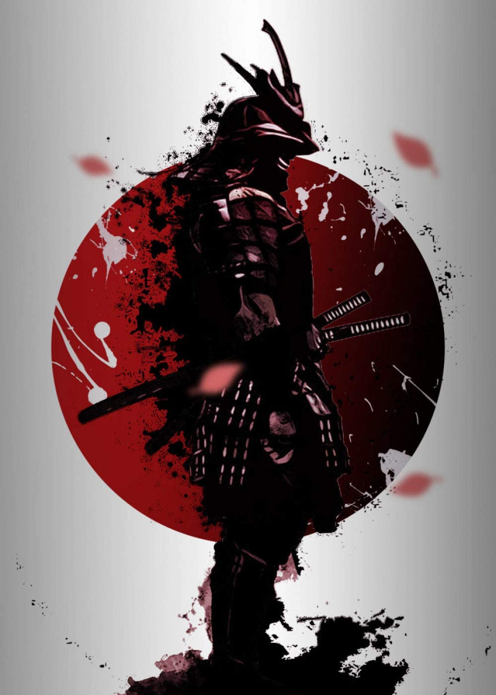 Japanese Warriors Abstract Samuray Poster Canvas Paintings Scrool Wall Art Decor