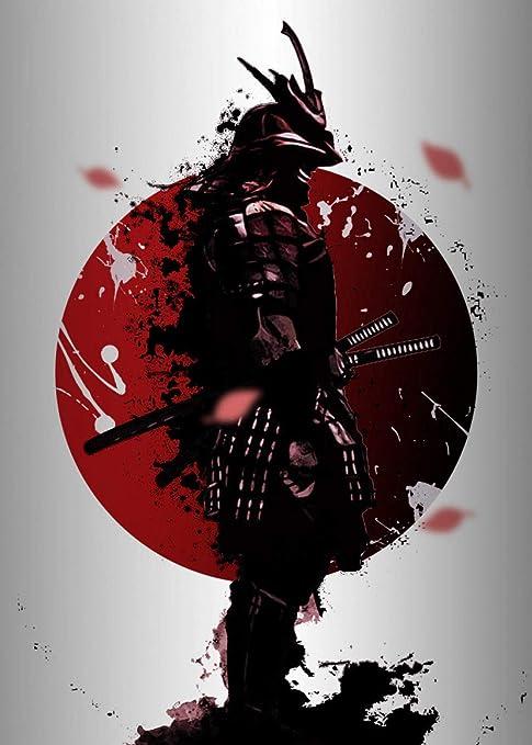zzzddd Impresi/ón De Lienzo,Decoraci/ón En Casa HD Samurai Japon/és Lienzo Pintura Mural Moderna Lienzo Fotograf/ías Art/ísticas De Sal/ón Modular De Impresi/ón De Fotograf/ías,20 30 Cm Sin Cerco