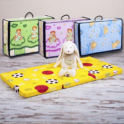Kinderbettmatratze BUNT Reisebettmatratze Kindermatratze Babymatratze Schaumstoff Matratze 120 x 60