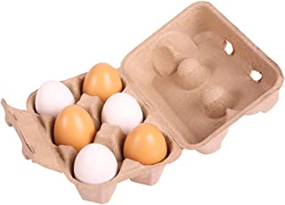 Bigjigs Toys Six Wooden Eggs in Carton