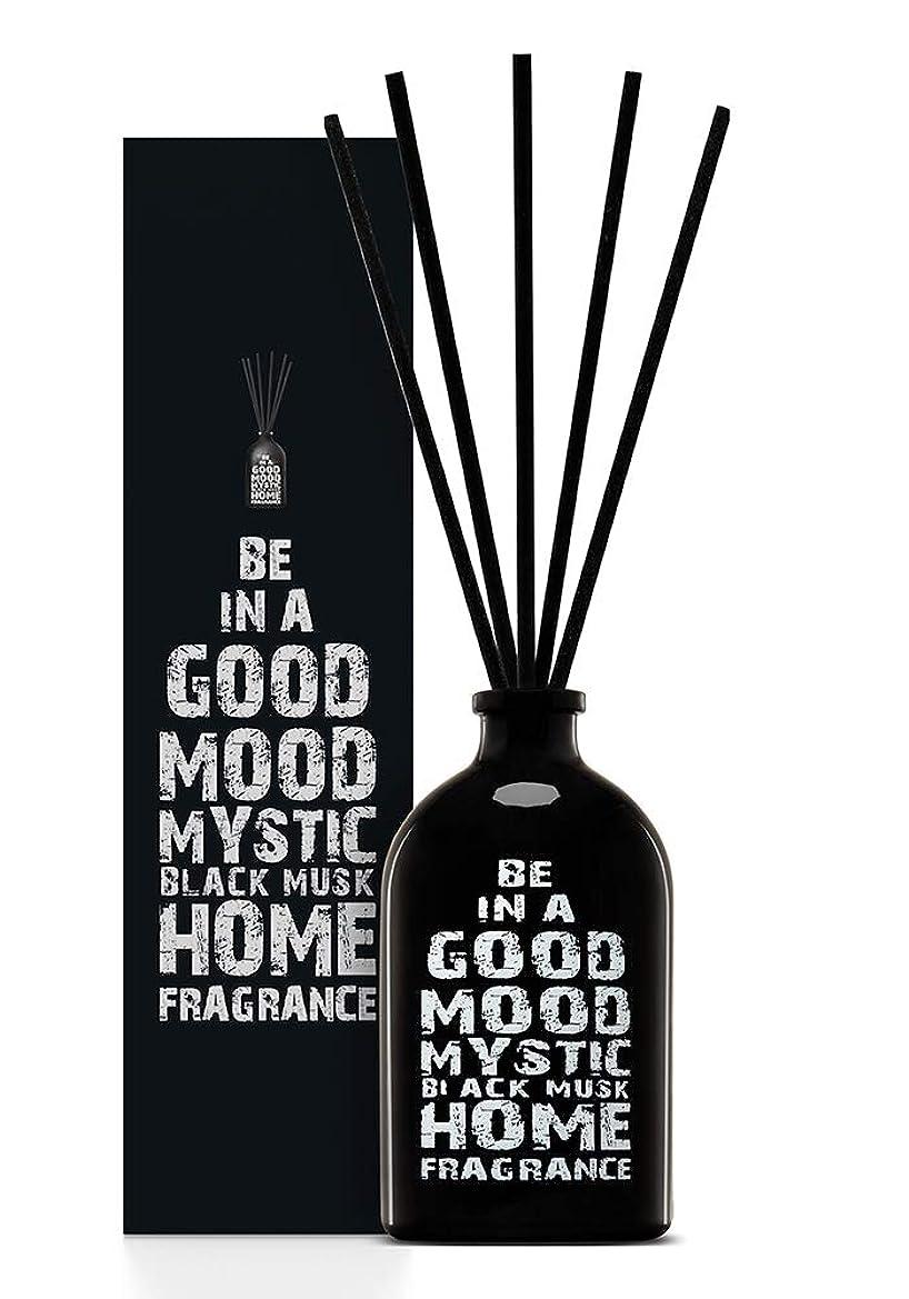 リールはがき香水BE IN A GOOD MOOD ルームフレグランス スティック タイプ BLACK MUSKの香り (100ml)