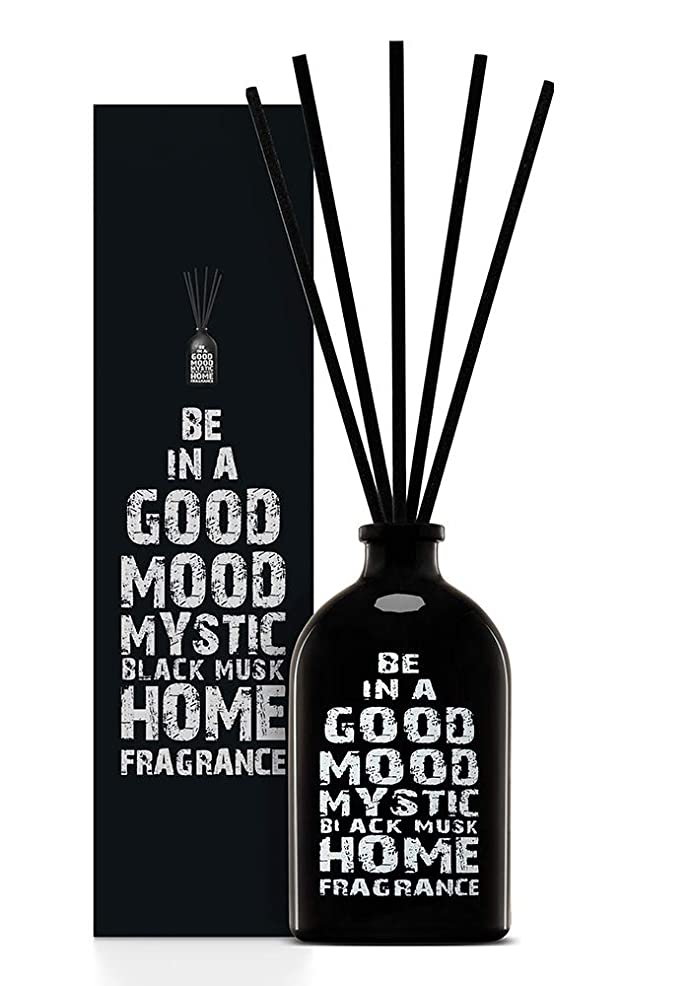 上げる韓国過半数BE IN A GOOD MOOD ルームフレグランス スティック タイプ BLACK MUSKの香り (100ml)