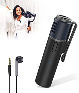 UooEA Wireless Bluetooth Stereo Microphone, Portable Professional Audio Recorder with 48KHz CD-Quality Sound and Noise Can...