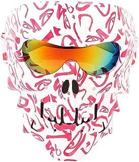 Qii lu Skull Face Mask Goggles Motorcycle Bike Racing Skiing Dust Wind Shield Helmet Glasses H118