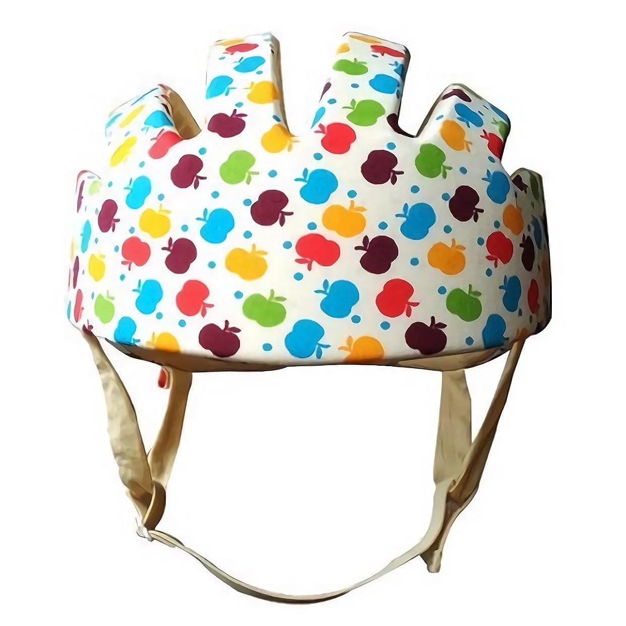 オークランド広範囲に考古学的な安全ヘルメット スポンジ ベビー 乳幼児 安全 ヘッドガード プロテクター 保護 ケガ 防止 軽量 サイズ調整可 (カラフル)