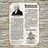 1908 George Washington Brewed Beer Budweiser Ad Blechschild