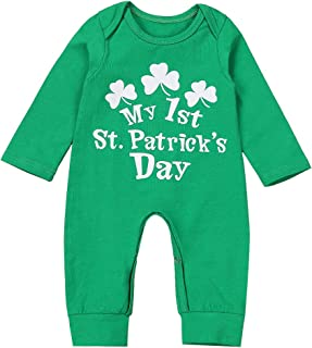 My First St.Patrick's Day Newborn Baby Girl Boy Clothes Romper Bodysuit Jumpsuit One-Piece Outfits