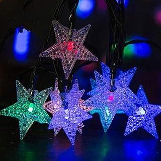 Led String Solar Lights Solar Lamp 7m Solar String Light Star Shape LED String Fairy Lights Solar Garlands Garden Christma...