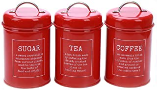Best red coffee tea sugar containers Reviews