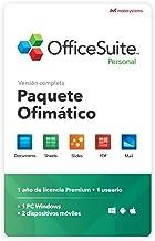 OfficeSuite Personal Compatible con Office Word Excel y PowerPoint® y PDF para PC Windows 10, 8.1, 8, 7 - licencia de 1 añ...