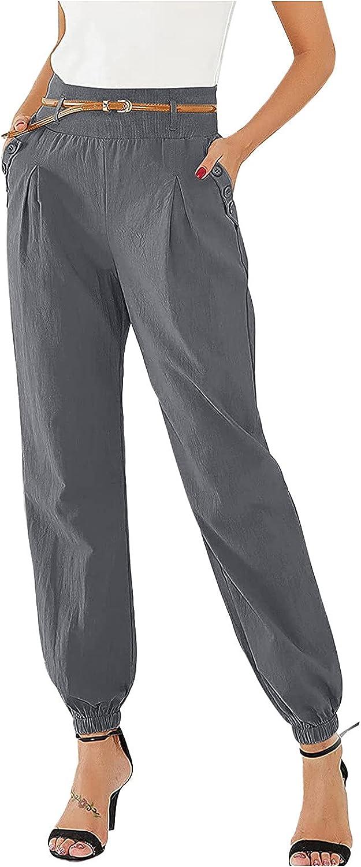 LISTHA Casual Pants Women's Solid Color Printed Loose Low Waist Wide Leg Pants Long Pants Pant