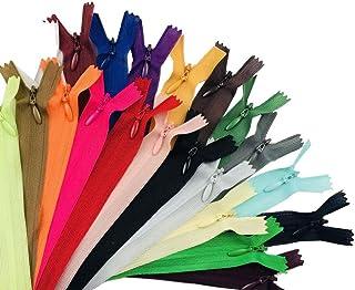 SUPVOX 50 peças de zíperes de bobina de nylon zíperes de costura invisíveis de metal de nylon para acessórios de costura d...