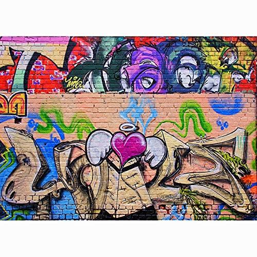 Fondo de fotografía de Graffiti de Arte de Pared de ladrillo, Estudio de fotografía de Fondo de fotografía de Retrato de bebé A15 10x10ft / 3x3m