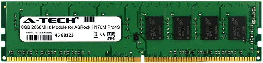 A-Tech 8GB Module for ASRock H170M Pro4S Desktop & Workstation Motherboard Compatible DDR4 2666Mhz Memory Ram (ATMS395874A25818X1)