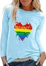 Badymin Womens Casual Print Shirts O-Neck Long Sleeve Top Loose T-Shirt Blouse
