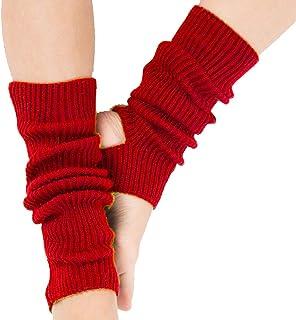 Calentadores para Mujer Cálido Invierno Calentadores de Pierna Calcetines para Botas de Punto Polainas para Señoras Niños