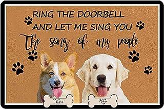 """Personalized Dog Photo&Text on Doormat 24"""" X 16"""" Indoor Outdoor Custom Pet Name Picutre Weclome Mat Indoor Outdoor Doormat..."""