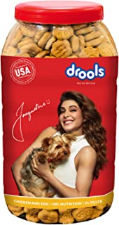 Drools Chicken and Egg Biscuit, Dog Treats - Jar, 800 g