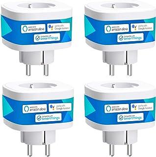 Presa Intelligente Wifi Smart Plug Spina Wireless 16A 3680W, Funzione Timer, Compatibile con SmartThings, Alexa, Google As...