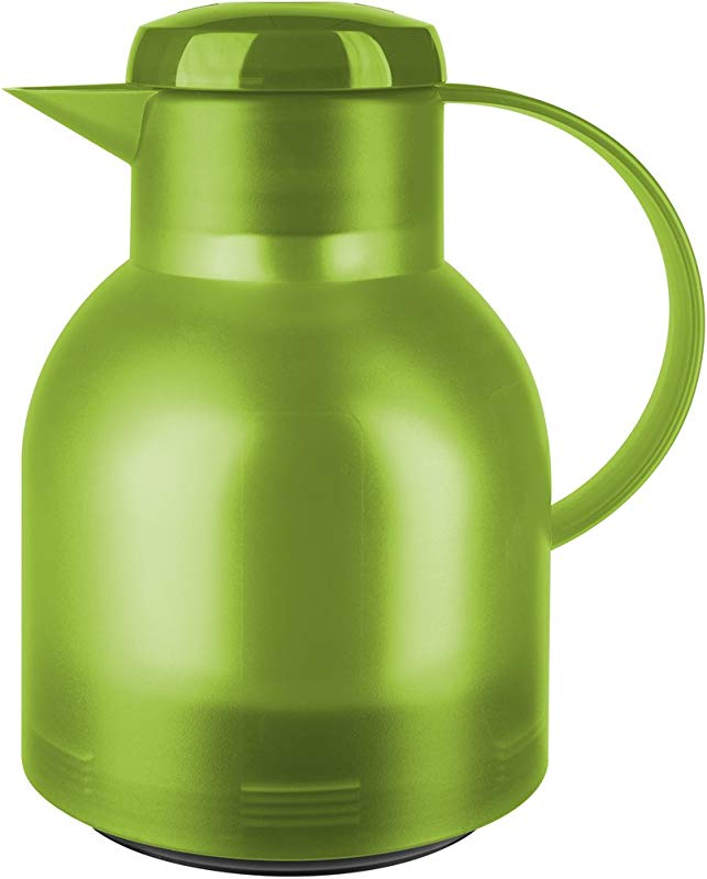 Emsa Samba Quick Press Vacuum Insulated Thermal Carafe 34 Oz Translucent Light Green