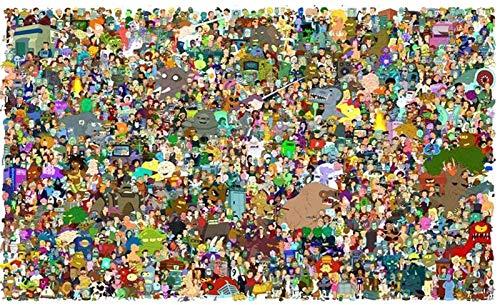 Wapipey Rompecabezas de dibujos animados futurama anime jigsaw puzzles 300/500/1000 piezas para adultos rompecabezas de madera dificultad de gran dificultad denso adulto descompresión jigsaw puzzle ki