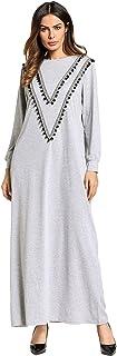 Cikuso 中東イスラム教徒の蓮の葉の髪のボールのドレススカートソリッドカラー編みヨーロッパとアメリカの大サイズの女性の服XL