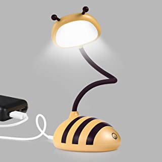 Merry LED Desk, Target Lamp, Home Bedside Touch Table Lamp, USB Port Cordless Desk Lamp, Honeybee Yellow.