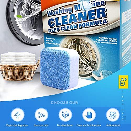 MJTP 12 STÜCKE Waschmaschine Tank Reinigungstabletten Brausetabletten Reiniger Entkalker Tiefenwirksame Reinigung Entferner Deodorant